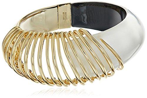 Alexis Bittar Coiled Hinge Silver Bangle Bracelet
