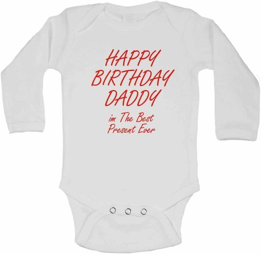 /Blanc/ filles/ 3/m /Cadeau de Nouvel personnalis/é b/éb/é gilets bodies b/éb/é SE D/éveloppe pour gar/çons Happy Birthday Daddy im le meilleur jamais/ /0