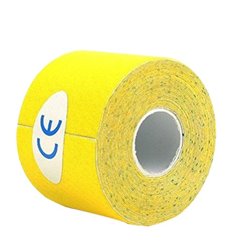Supvox Athletic Tape Physio Ayuda terapéutica para las rodillas Muscle Support 500x2.5cm (Amarillo)