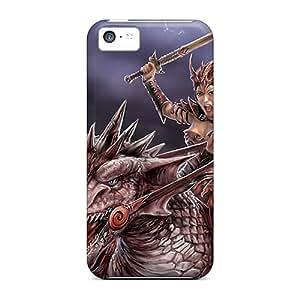 Tpu Kallard Shockproof Scratcheproof Lady The Dragon Hard Case Cover For Iphone 5c
