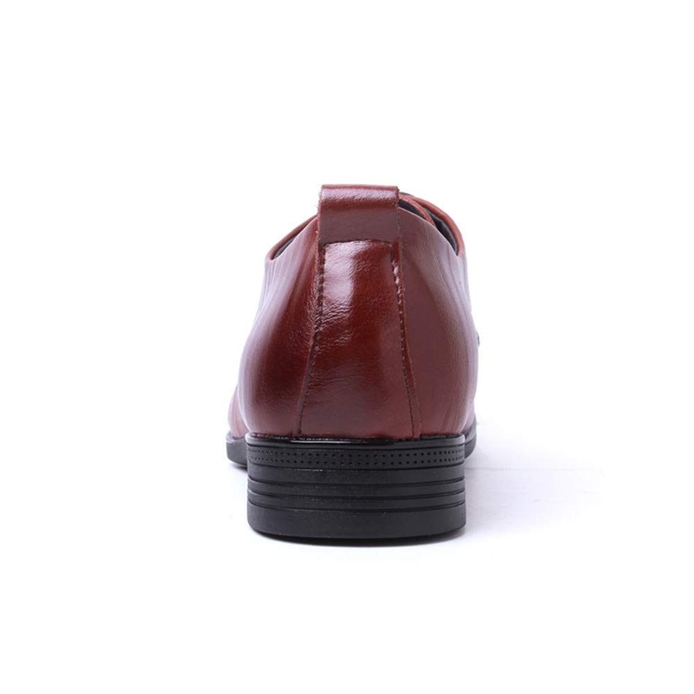 Oudan 2018 Herrenmode Oxfords Schuhe, Runde Zehe Flache Ferse Ferse Ferse Lace up Weichen Rindsleder Volltonfarbe Schuhe (Farbe   Schwarz, Größe   40 EU) (Farbe   Braun, Größe   42 EU) 57e4f0