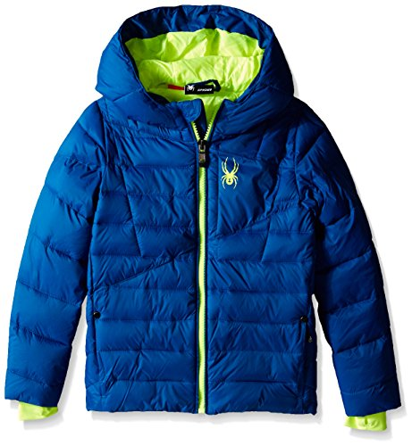 Spyder Little Boys' Upside Down Puffer Coat, Concept Blue,(5) (Boys Puff Jacket)