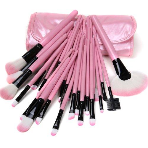 Lycheers Красивые 32pcs Косметический макияж кисти для макияжа Набор СВОБОДНЫЙ мешок (розовый)
