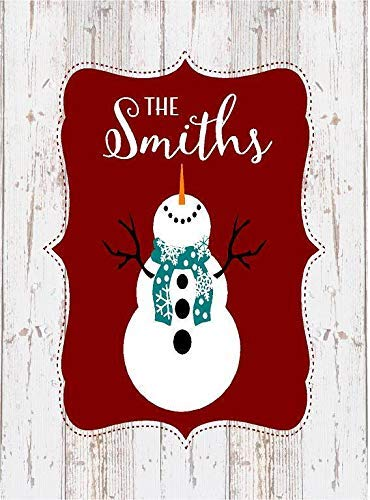 weewen Custom Name Snowman Personalized Christmas Decor Farmhouse Decor Housewarming Gift Wood Signs Wall Art Farmhouse Style Hand Painted Plaque