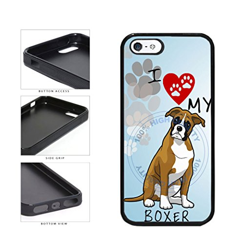 BleuReign I Love My Boxer Dog Lover TPU RUBBER SILICONE Phon