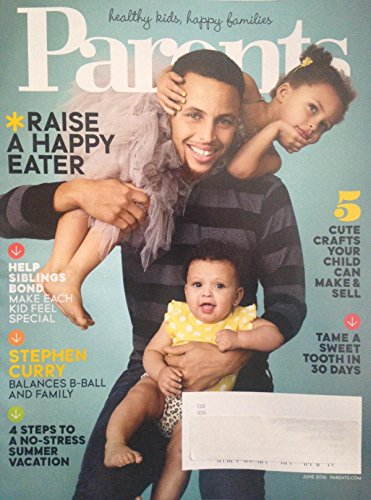Parents Magazine June 2016 Stephen Steph Curry on Cover
