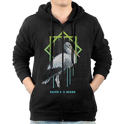 Men's Faith No More Angel Dust Zip Hoodie Sweatshirt With Kangaroo Pocket (Hoodie Zip Faith)