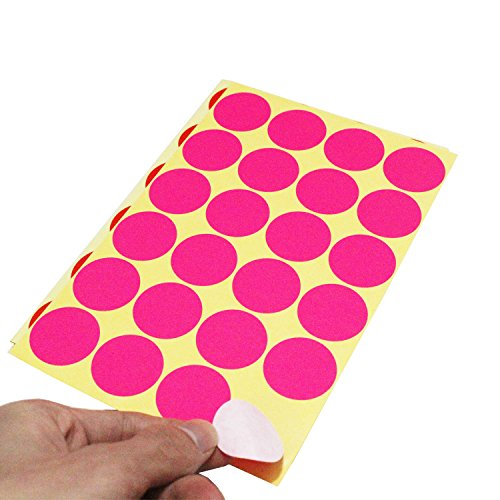 Ljy 32mm Round Dot Stickers Color Coding Labels 12
