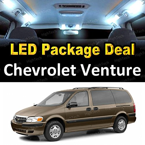 LED Interior Package Deal for 2002 Chevrolet Venture (8 Pieces), WHITE
