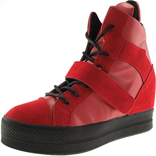 Velcro Maxstar rouge Chaussures top C2 Hautes Haut Bandes Baskets 1 C2 Haut TEanqREwgr