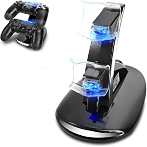 PS4 Controller Charger,Playstation 4 / PS4 / PS4 Pro / PS4 Slim Controller Charger Charging Docking Station Stand for PS4 Controller
