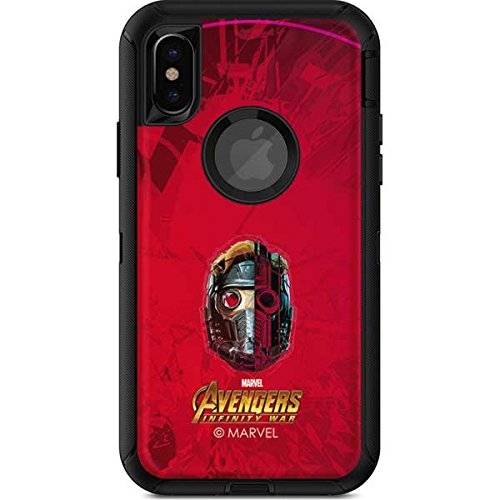Guardians Of The Galaxy Otterbox Defender Iphone X Skin   Star Lord Futurist   Marvel   Skinit Skin