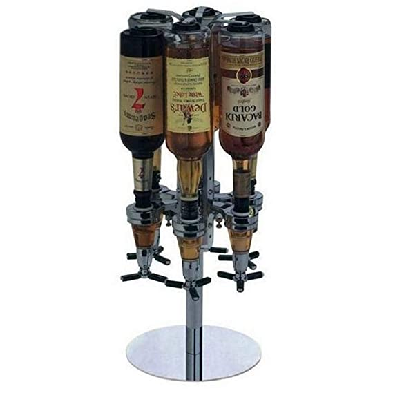 YSCYLY Botella Vino Rack Rotatorio Bar Cóctel Sala Licor Dispensador De Bebidas Sostenedor De Vino Rack Barware Pour Marco,25Ml: Amazon.es: Hogar