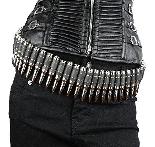 Real Bullet Belt .308 Caliber Nickel Shell M16 Dark Link 42