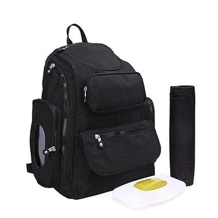 Gran bebé bolsa de pañales Set para hombres adultos y mujeres, mejor elegante negro gamuza