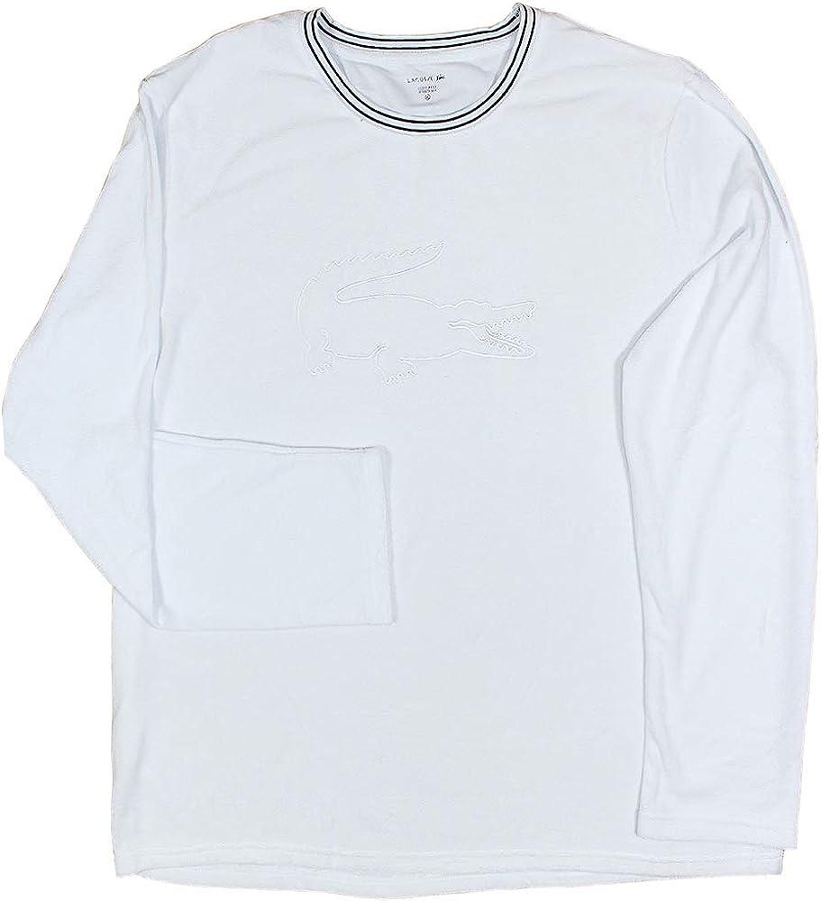 Lacoste Crewneck - Cuello redondo para hombre Blanco 100. S: Amazon.es: Ropa y accesorios