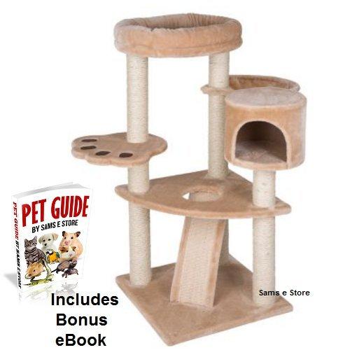 Torre de gato de gatitos y actividad Play Árbol den Multi Nivel rampa ideal para ancianos y mal gatos Pan Play Hide SHARPEN garras: Amazon.es: Productos ...