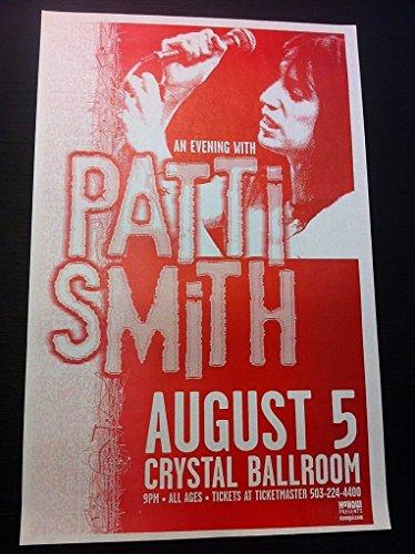 Patti Smith Original Portland Crystal Ballroom Punk Flyer Concert Tour (Tour Crystal)