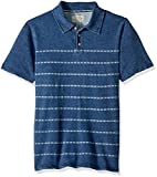 Lucky Brand Little Boys' Short Sleeve Printed Polo, Indigo Blue, 6