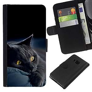 All Phone Most Case / Oferta Especial Cáscara Funda de cuero Monedero Cubierta de proteccion Caso / Wallet Case for HTC One M7 // Siamese Cute Paw Kitten Soft Furry Beast
