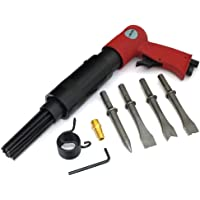 Tooltime® 150mm Air Hammer with 4 x 120mm Chisels and Needle De-Scaler Attachment