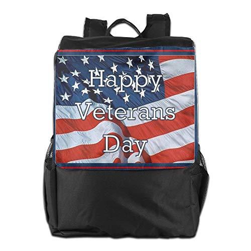 Aire con para Day Personalizada de para el Mujeres Correa School Ajustable Happy Libre Viaje HSVCUY al Hombres Almacenamiento Hombro Veterans Mochila y Camping q4vt6Pnt