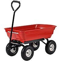 Muscle Rack PW3720-R 4 Cu. ft. 20 in. W Plastic Garden Dump Cart
