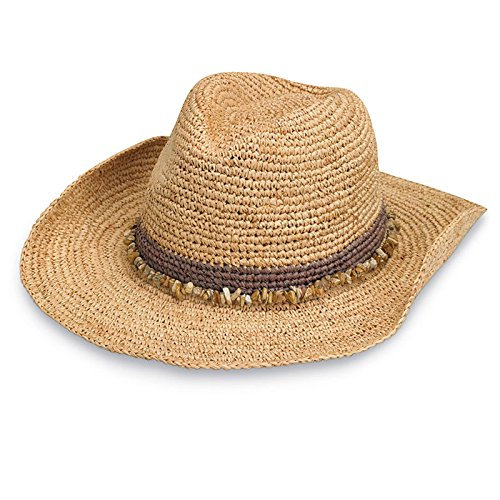 Wallaroo Women's Tahiti Cowboy Sun Hat - UPF 50+ - Adjustable Fit (Taupe)