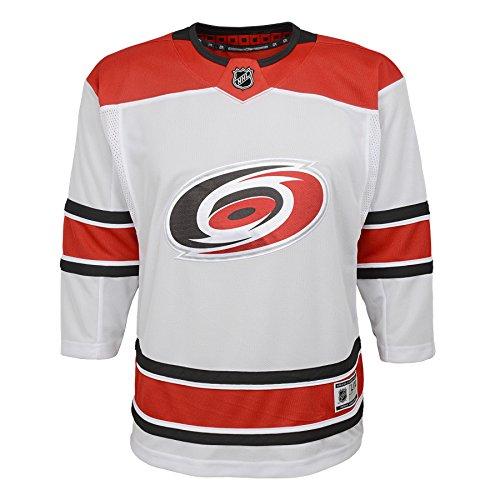 Carolina Hurricanes Blank White Youth Away Premier Team Jersey (Small/Medium 8-12) Away Blank Hockey Jerseys