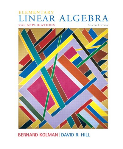 Elementary Linear Algebra with Applications, 9/e Pdf