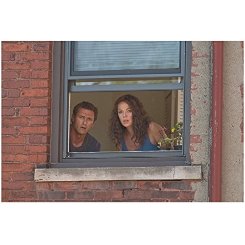 One for the Money (2012) 8 inch x 10 inch Photo Katherine Heigl & Jason O'Mara Looking Out Window Surprised kn -