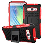Kit Me Out CAN Dual Silicon / Hard Heavy Duty Case With Kick Stand for Samsung Galaxy A5 - Red