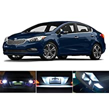 LED lights for 2010-2016 Kia Forte Xenon White License Plate/Tag LED Lights Bulbs (2 pieces)