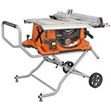 Factory-Reconditioned Ridgid ZRR4510 10-in Portable Table Saw with Stand