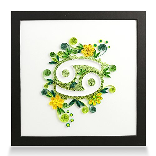 (PaperTalk Zodiac Cancer Handmade Personalized Gifts for Him & Her Frame Paper Quilling 3D Wall Art for Home Decor   )