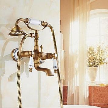 TougMoo robinet douche baignoire ancienne Porcelaine Bronze robinet ...