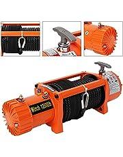 Cabrestante Electrico 12V Quad 13500Lbs/6123Kg para Barcos Coche ATV Remolque con Controles Remotos Inalámbricos y Placa de Montaje