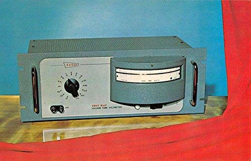 Plainview New York Trio Laboratories Voltmeter Vintage Postcard (Chrome Voltmeter)