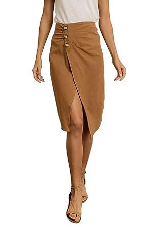 4f2099c22 Dress Forum Pinstripe Ruched Midi Skirt at Amazon Women's Clothing ...