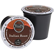 Tully's Extra Bold Italian Roast Coffee Keurig K-Cups, 18 Count