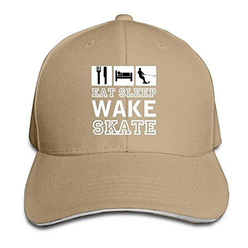 Itry Eat Sleep Wake Skate Funny Unisex Baseball Hats for sale  Delivered anywhere in USA