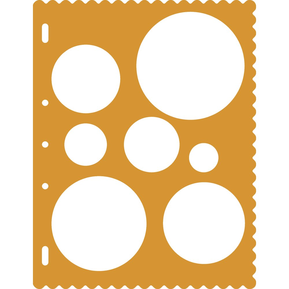 Fiskars Shape Template, Circle Fiskars School Office and Craft Division 48507097F
