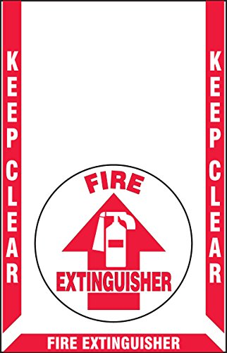 Slip Gard Floor Signs - Slip-Gard Floor Marking Kit, Fire Extinguisher, Red/White