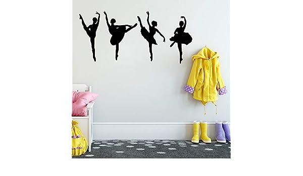 yaonuli Ballerina Ballet Wall Sticker Dance Room Decorate Wall ...