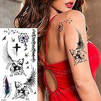 Tatuaje Flores temporales Loto Tatuaje Mandala Pegatinas Azul Rosa ...