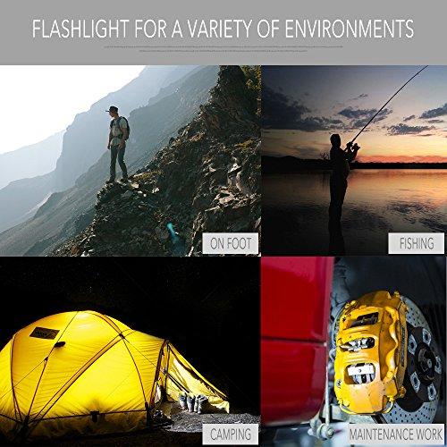 Mini 90 Degree NICRON N7 600 Lumens Tactical Waterproof Led 4 Modes Flashlight