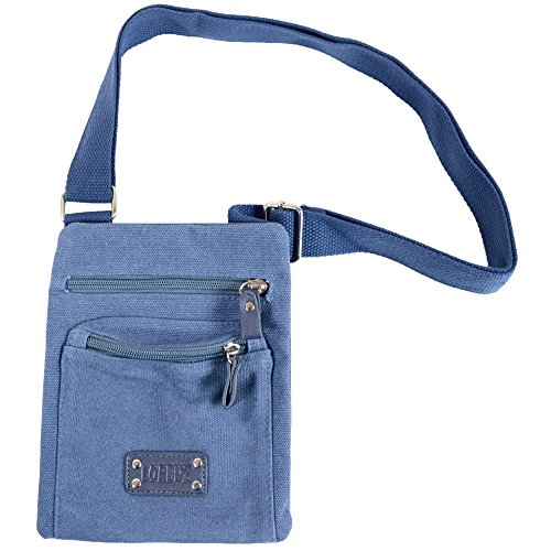 Body Canvas Cross Unisex Bag Shoulder Blue Handy wCPI5qxx