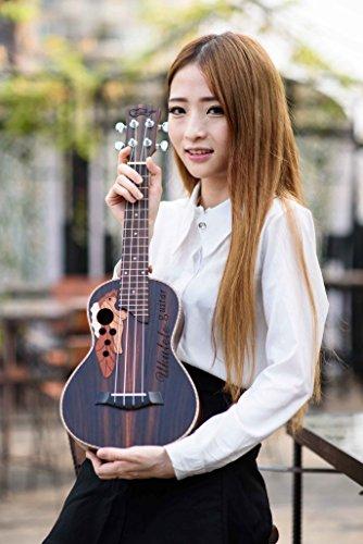 23-inch Hawaii ukulele rosewood professional concert Ukulele send tuner trim folder thick piano bag - Image 7