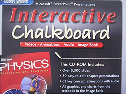 Interactive Chalkboard CD ROM For Glencoe Physics