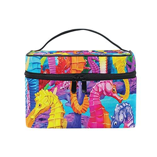 Toiletry Bag Multifunction Cosmetic Bag Portable Toiletry Case Waterproof Travel Organizer Bag for Women Girls Glow In The Dark Singing Seahorses